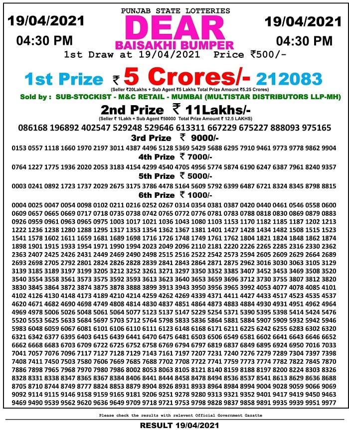 punjab-state-lottery-baisakhi-bumper-2021