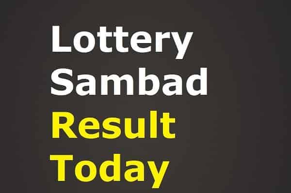 Lottery Sambad 3.5.2021 Result